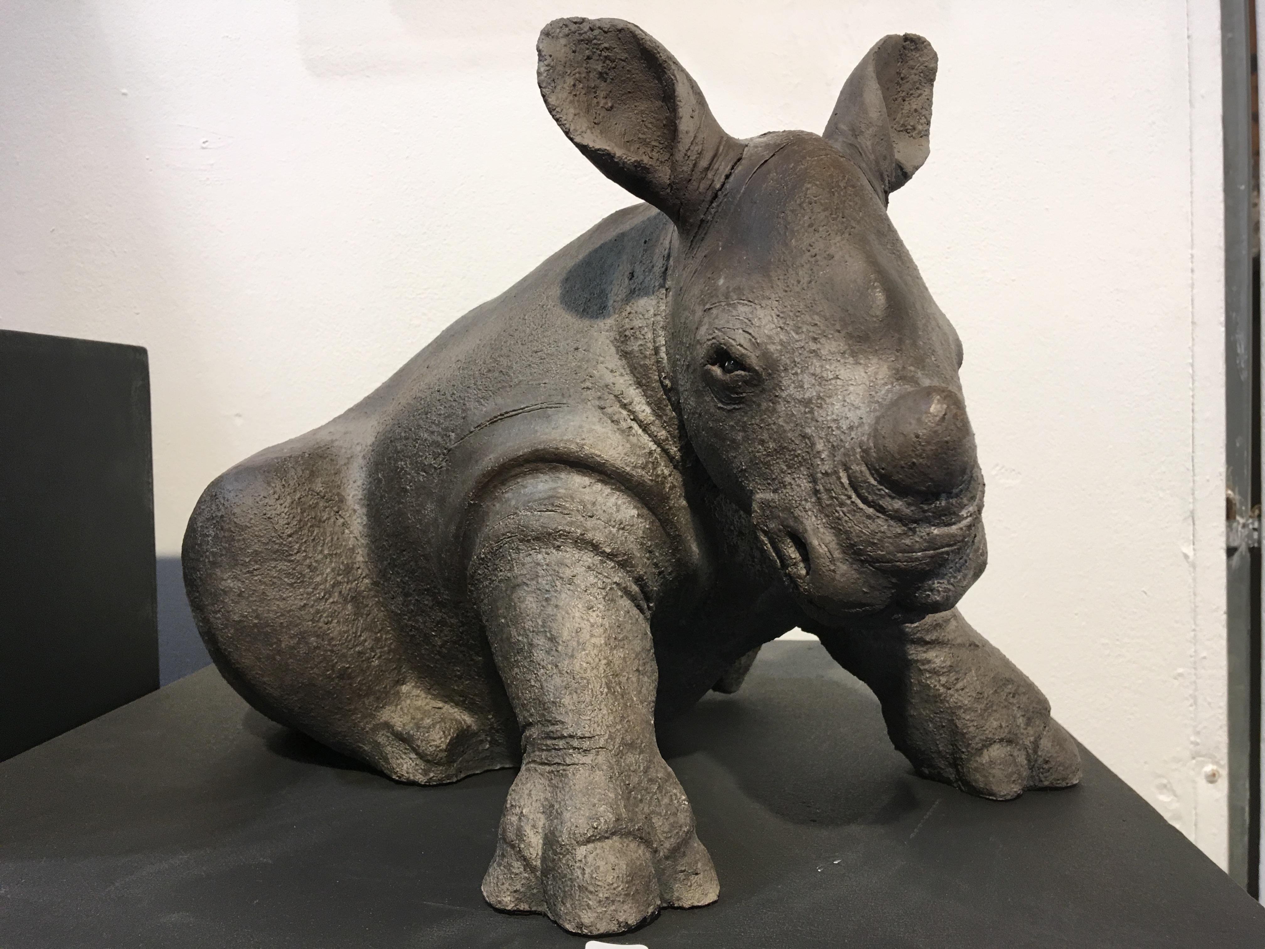 Petit rhinocéros - Raku - 2018